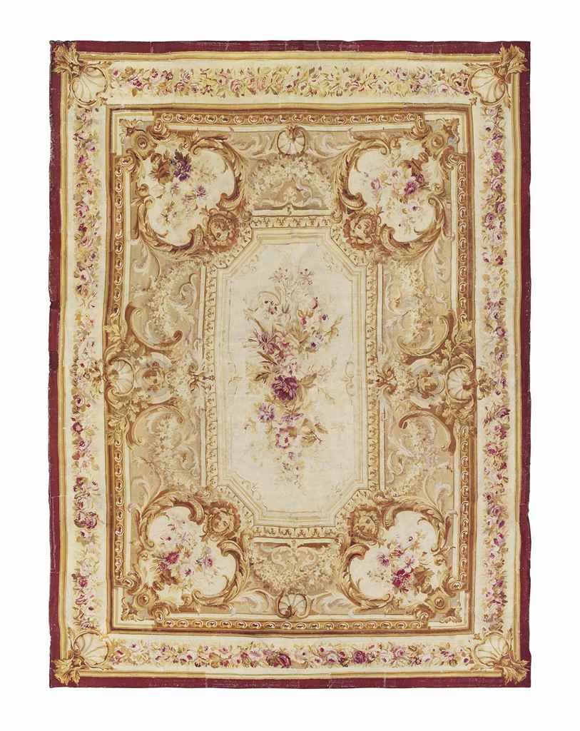 A MASSIVE AUBUSSON CARPET, FRA