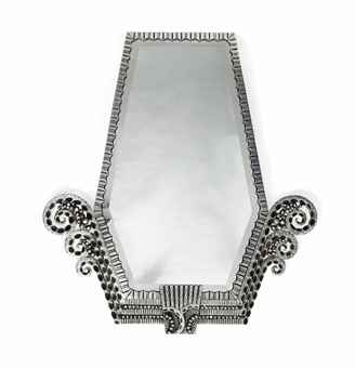 A NICS ART DECO CAST AND POLISHED METAL WALL MIRROR | CIRCA 193O ...