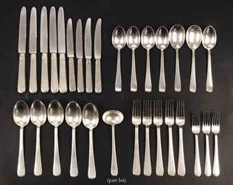 modern German silver 'art deco' part flatware service | STAMPED '800