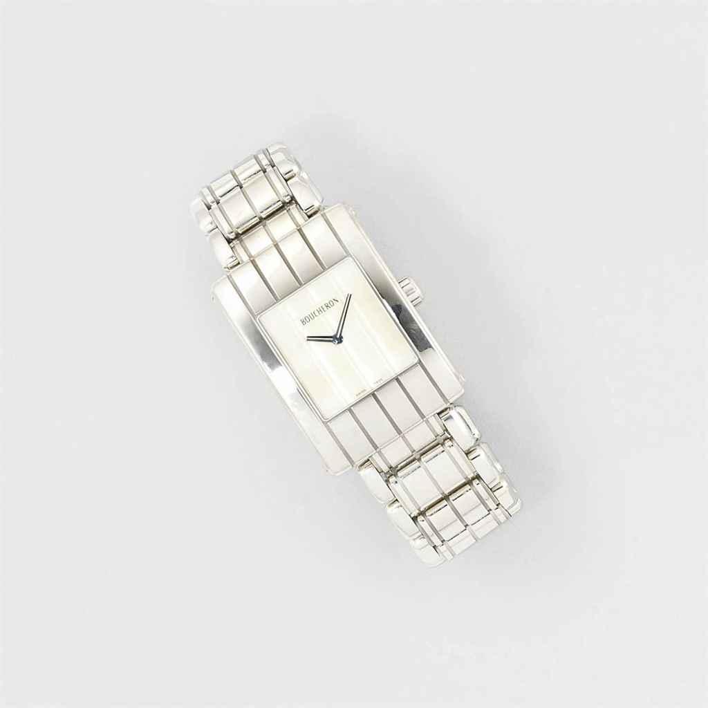 A stainless steel quartz wrist
