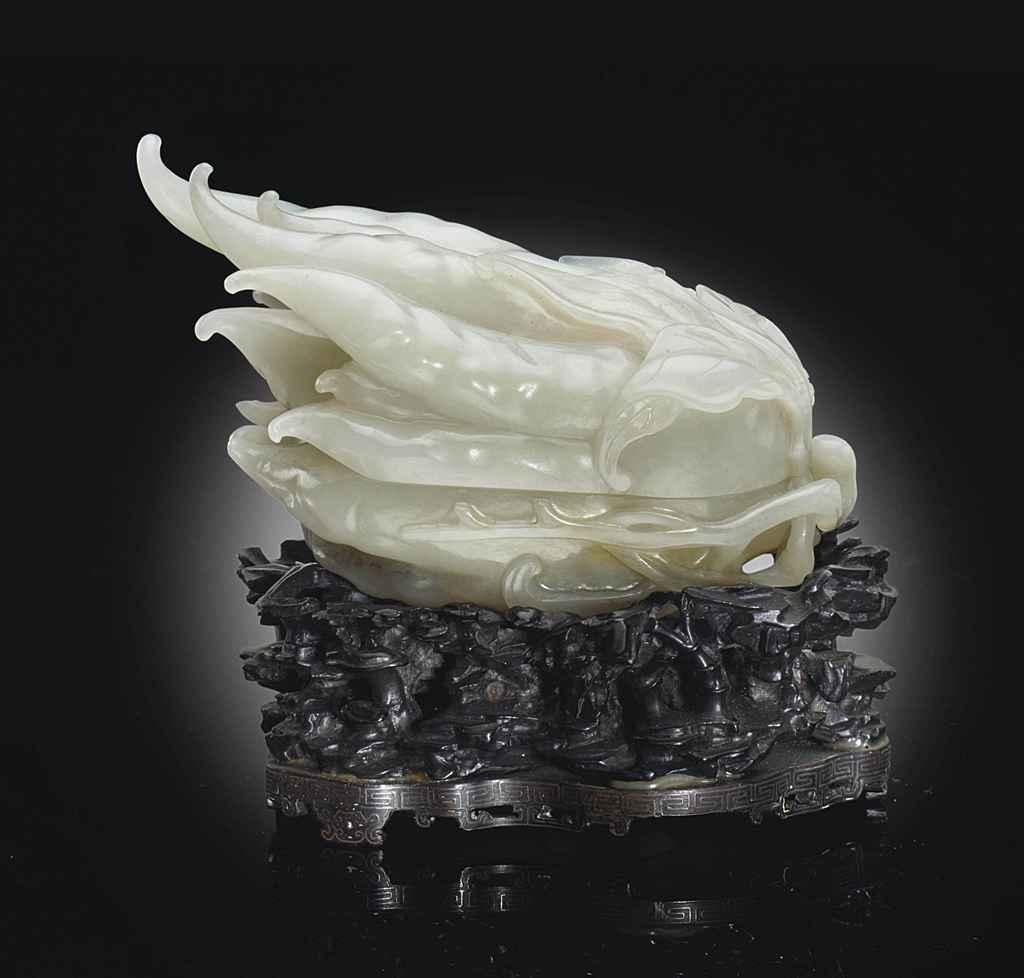 A WHITE JADE FINGER CITRON-FOR
