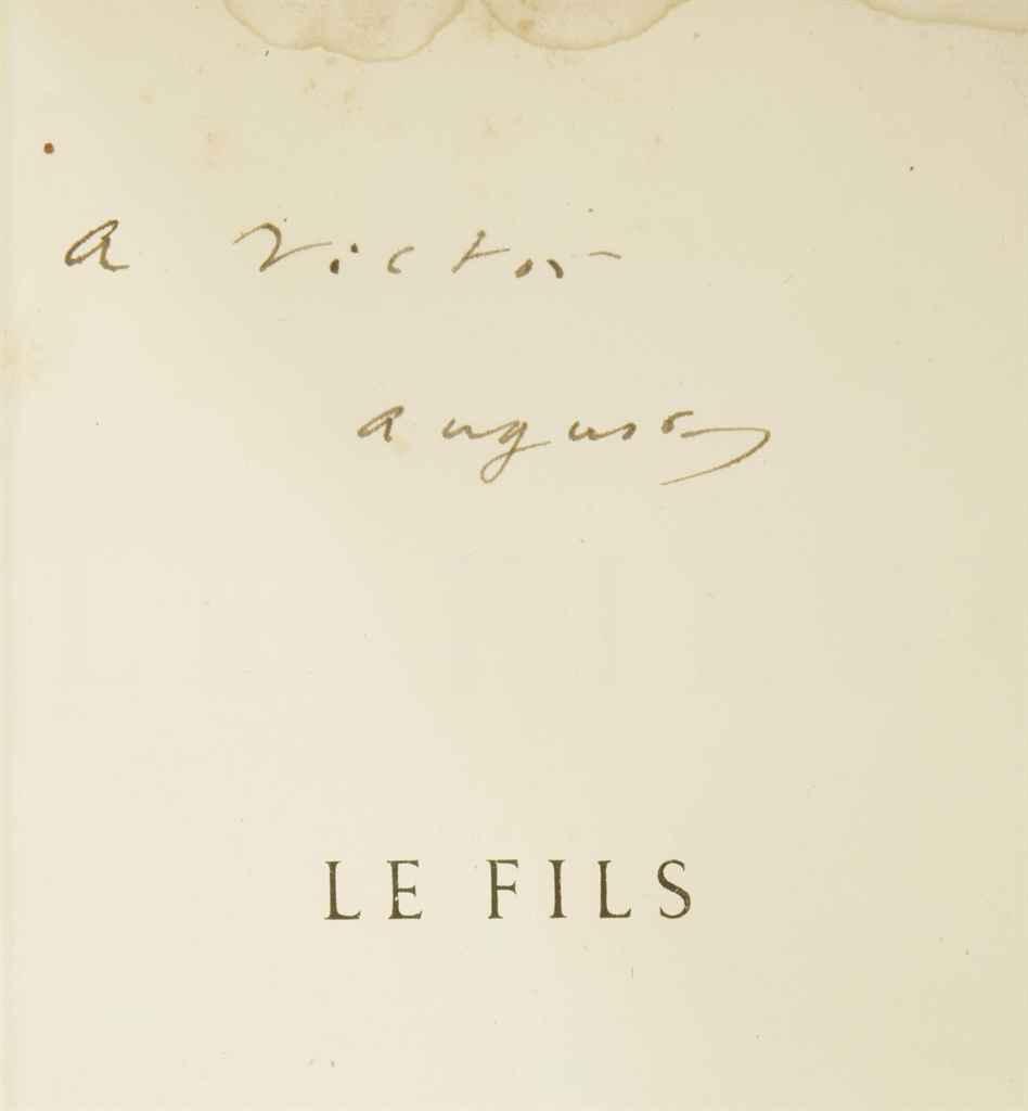 AUGUSTE VACQUERIE (1819-1895) Le Fils Paris: Pagnerre, 1866