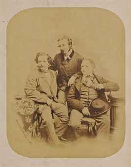 Victor Hugo et ses deux fils, Charles (1826-1871) et François-Victor (1828-1873), 1860