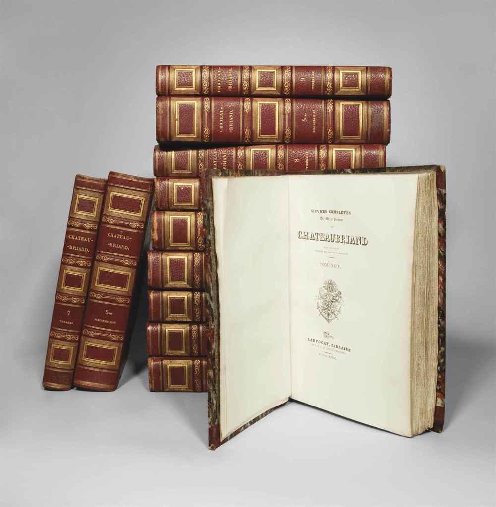 VICOMTE DE CHATEAUBRIAND (1768-1848) Oeuvres complètes Paris...