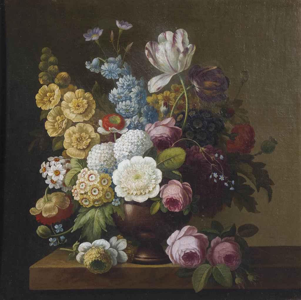 ecole francaise du debut du xixeme siecle bouquet de fleurs dans un vase christie 39 s. Black Bedroom Furniture Sets. Home Design Ideas