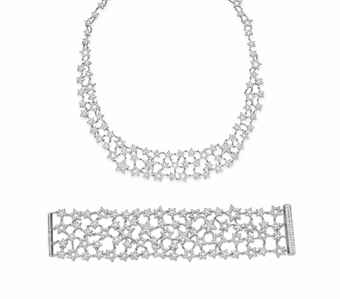 Lotfinder Jewelry A Set Of Diamond Jewelry By Tiffany 5547154 Details Tiffany & Co Jewelry