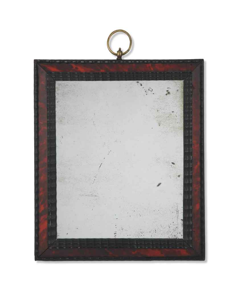 Miroir d 39 epoque baroque flandres seconde moitie du for Miroir baroque rectangulaire
