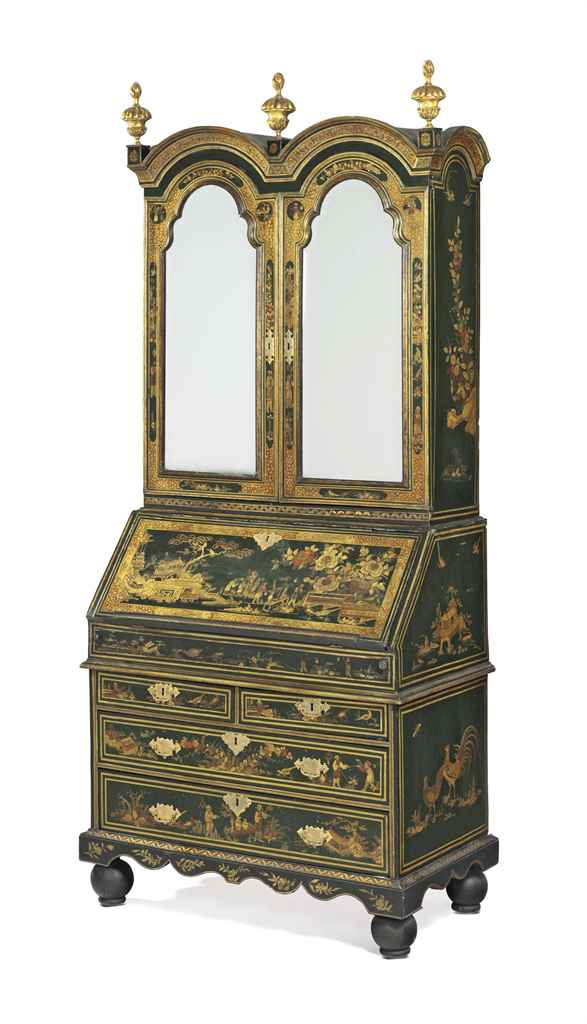 a george i green gilt and polychrome japanned bureau cabinet circa 1720 christie 39 s. Black Bedroom Furniture Sets. Home Design Ideas
