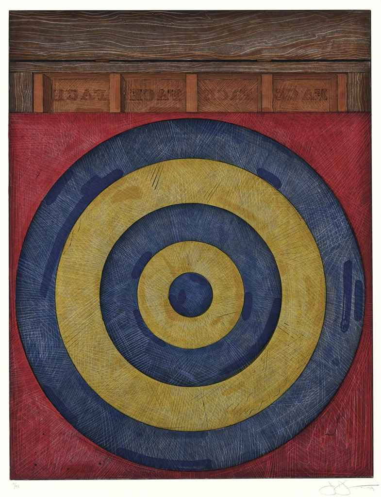 JASPER JOHNS , Target with Four Faces (ULAE 203) | Christie's