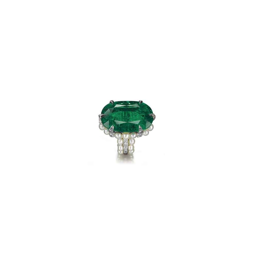 an emerald pearl and ring by jar christie s