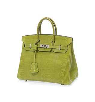 affordable briefcase hermes - A VERT ANIS LIZARD 'BIRKIN' BAG | HERM��S, 2007 | 21st Century ...