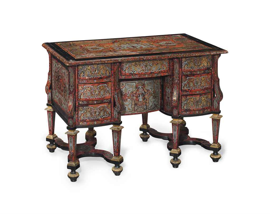 a louis xiv tortoiseshell brass and pewter inlaid bureau. Black Bedroom Furniture Sets. Home Design Ideas