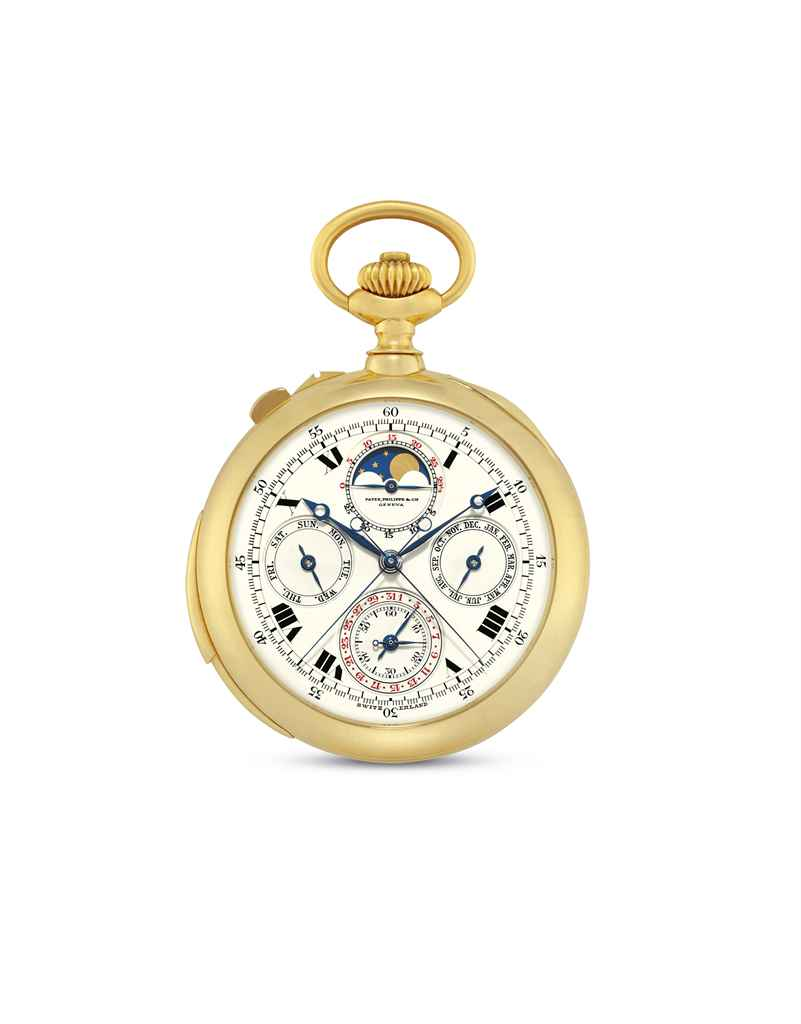 PATEK PHILIPPE A VERY FINE AND RARE 18K GOLD OPENFACE MINUTE...