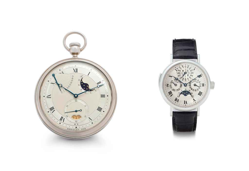 Breguet An Extremely Fine Souscription Set of 18K White Gold...