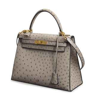 handbags hermes outlet - A GREY OSTRICH 'KELLY' BAG, | HERMES, 1990, | late 20th Century ...