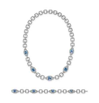 Lotfinder Jewelry A Set Of Aquamarine And Diamond Jewelry 5577974 Details Tiffany & Co Jewelry