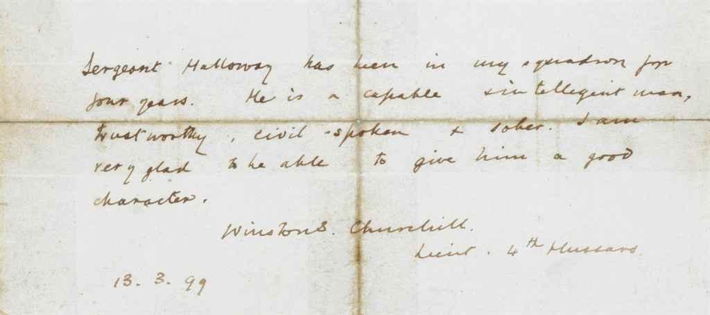 CHURCHILL, Winston S (1874-1965), Prime Minister Autograph d...