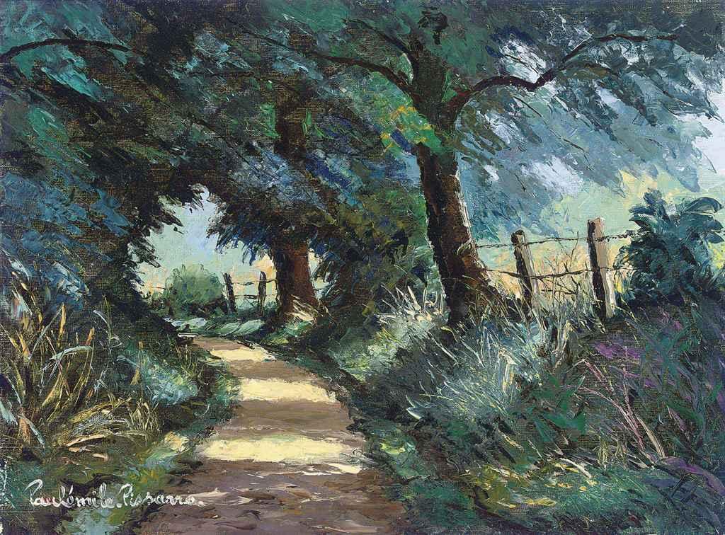 Paul mile pissarro 1884 1972 le chemin du pas de la - Chaise de soleil ...