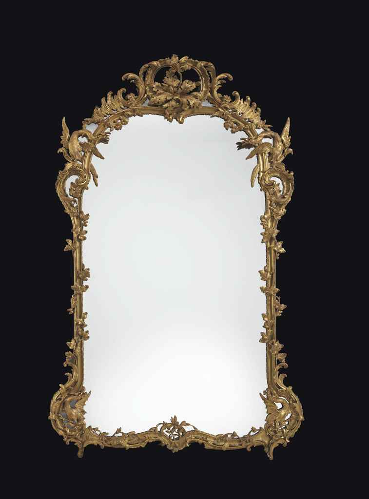 Miroir d 39 epoque louis xv milieu du xviiieme siecle for Miroir louis xv