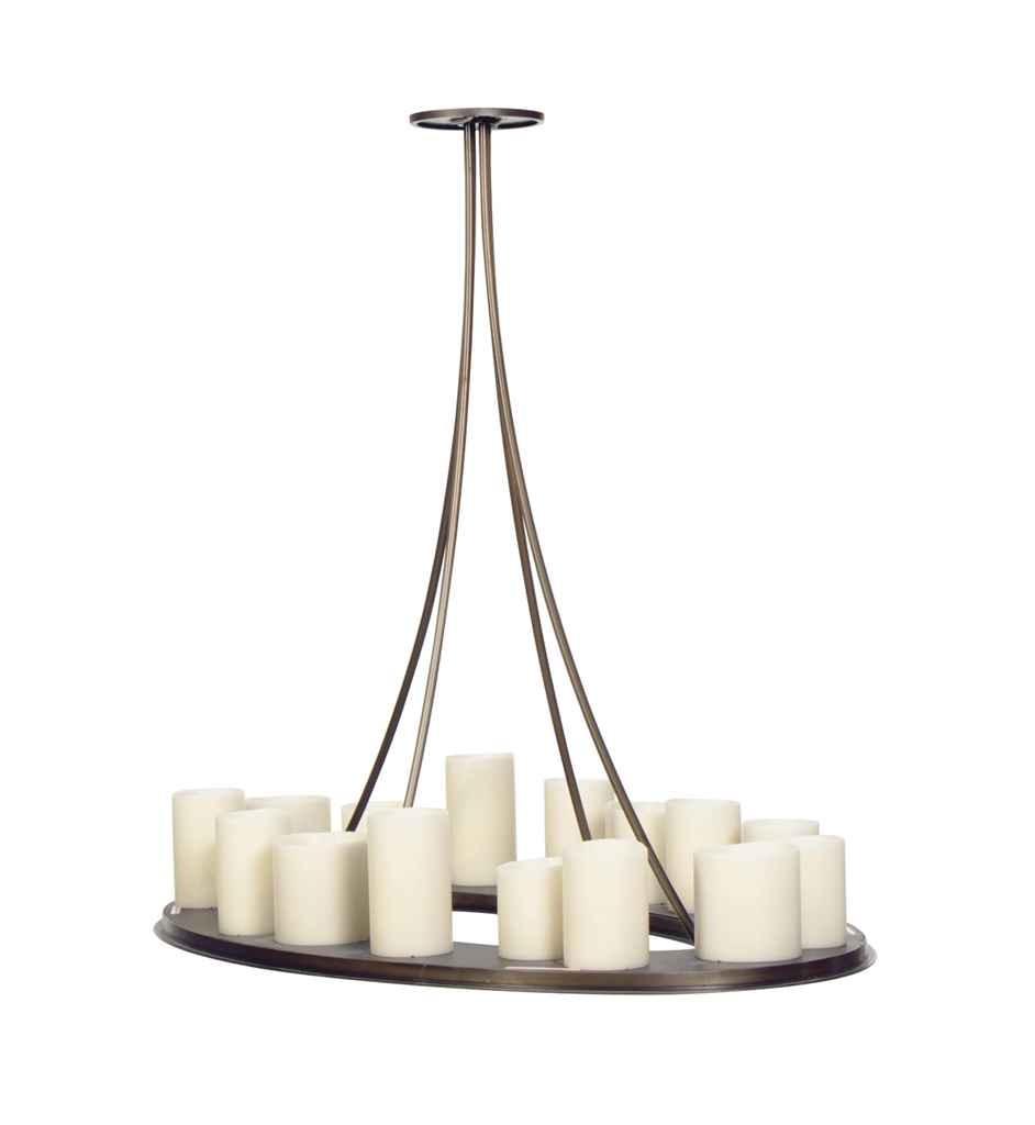 A CONTEMPORARY PATINATEDMETAL MATH RING CHANDELIER – Holly Hunt Chandelier