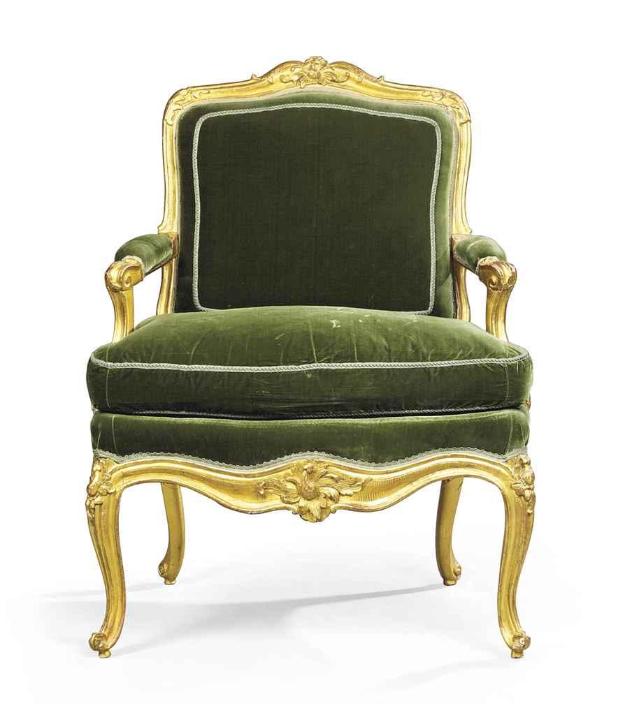 A Louis Xv Giltwood Fauteuil Circa 1740 Christie 39 S