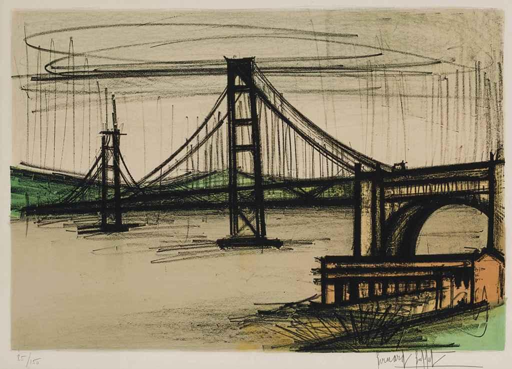 BERNARD BUFFET , Album San Francisco   one plate (S  84)   Christie u0026#39;s