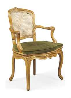 a swiss louis xv carved beech fauteuil de cabriolet. Black Bedroom Furniture Sets. Home Design Ideas