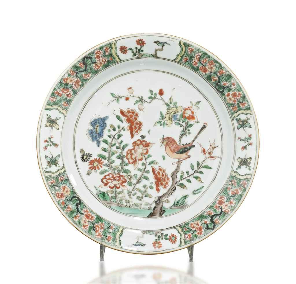 Asssiette en porcelaine de la famille verte chine dynastie qing epoque kangxi 1662 1722 for Porcelaine de chine