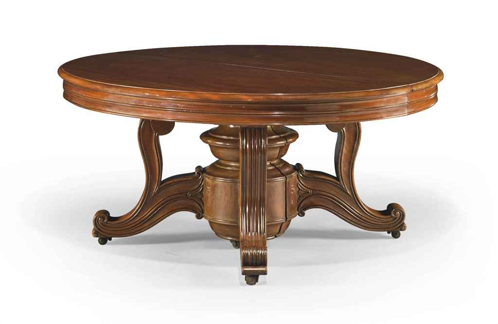 table de salle a manger d 39 epoque louis philippe vers. Black Bedroom Furniture Sets. Home Design Ideas