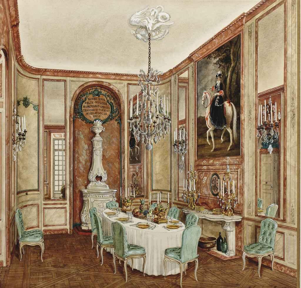 Alexandre serebriakoff 1907 1994 salle manger h tel rodocanachi chri - Salle a manger baroque ...