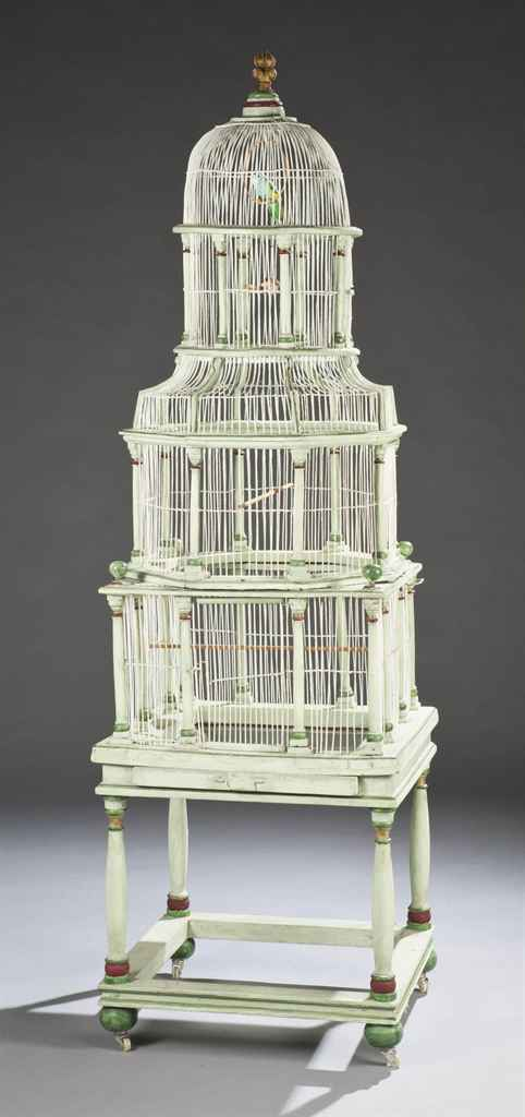 Cage a oiseaux de la fin du xixeme siecle christie 39 s for Cages a oiseaux decoratives