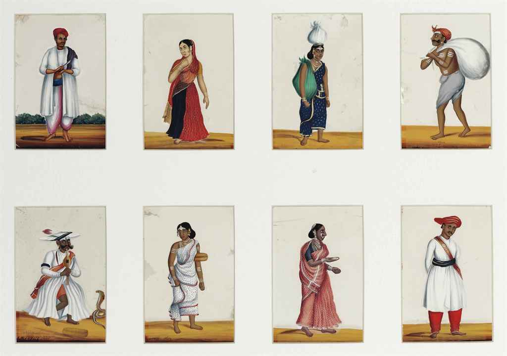 A COLLECTION OF TWENTY-FOUR STUDIES OF THE COSTUMES AND TRAD...