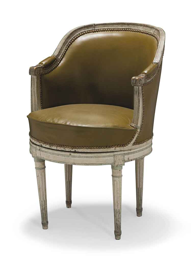 fauteuil de bureau d 39 epoque louis xvi fin du xviiieme. Black Bedroom Furniture Sets. Home Design Ideas