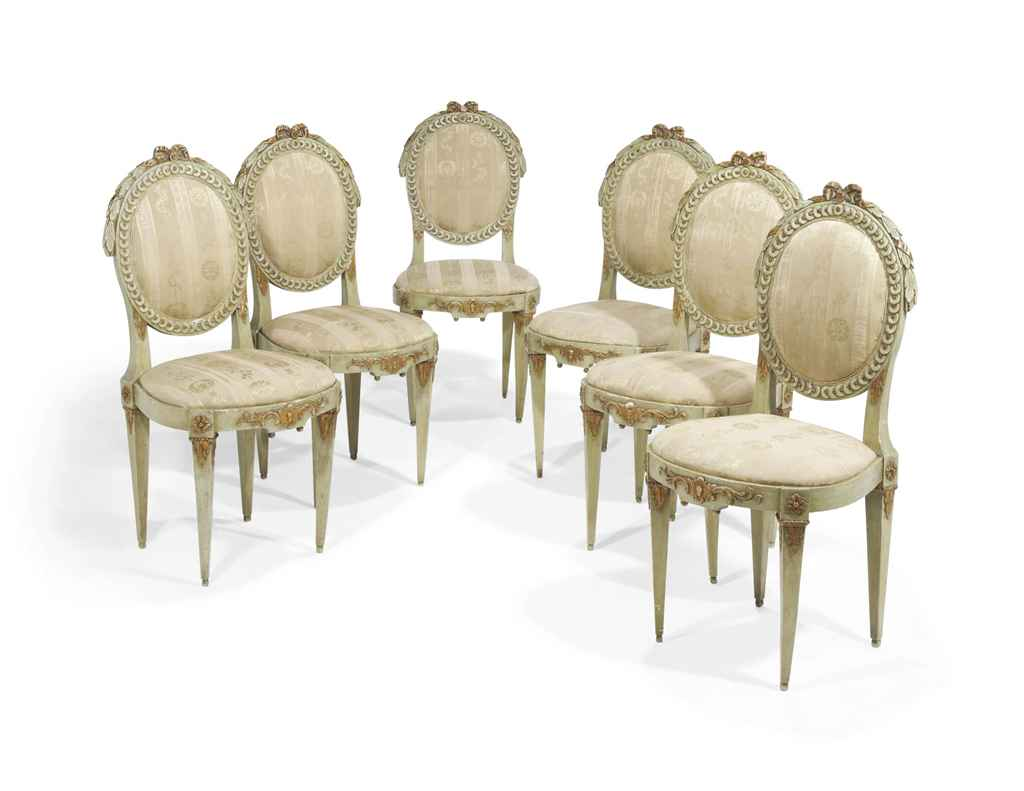 Six chaises d 39 epoque louis xvi fin du xviiieme siecle - Chaises louis 16 ...
