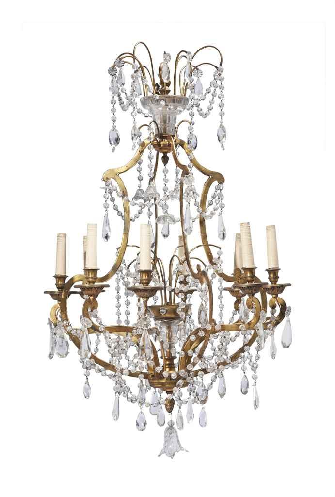 lustre cage de style louis xv xxeme siecle christie 39 s. Black Bedroom Furniture Sets. Home Design Ideas