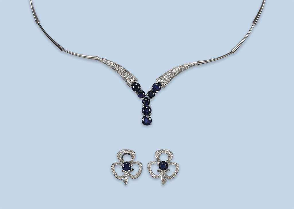 A COLLECTION OF GEM SET AND DIAMOND JEWELLERY