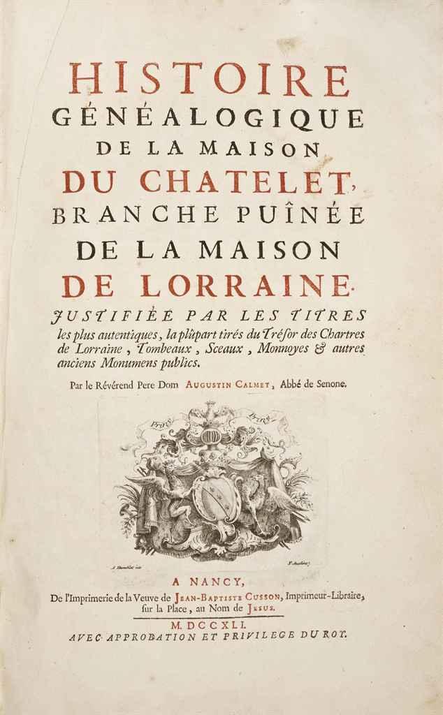 Calmet dom augustin 1672 1757 histoire g n alogique de for Origine du mot maison
