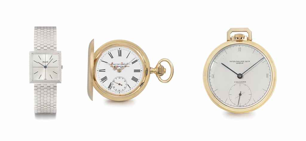 Piaget, Fabretti and Patek Philippe A lot of one 18K white g...