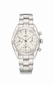 Rolex. A rare stainless steel chronograph wristwatch with bracelet, made for the Peruvian Airforce