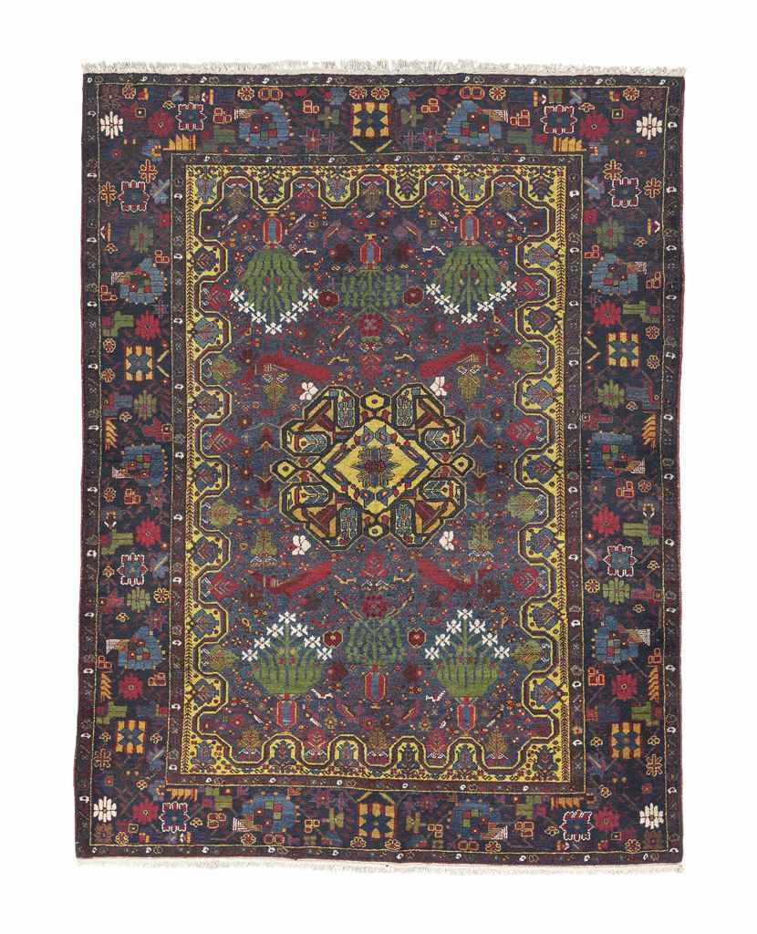 An antique Afshar rug