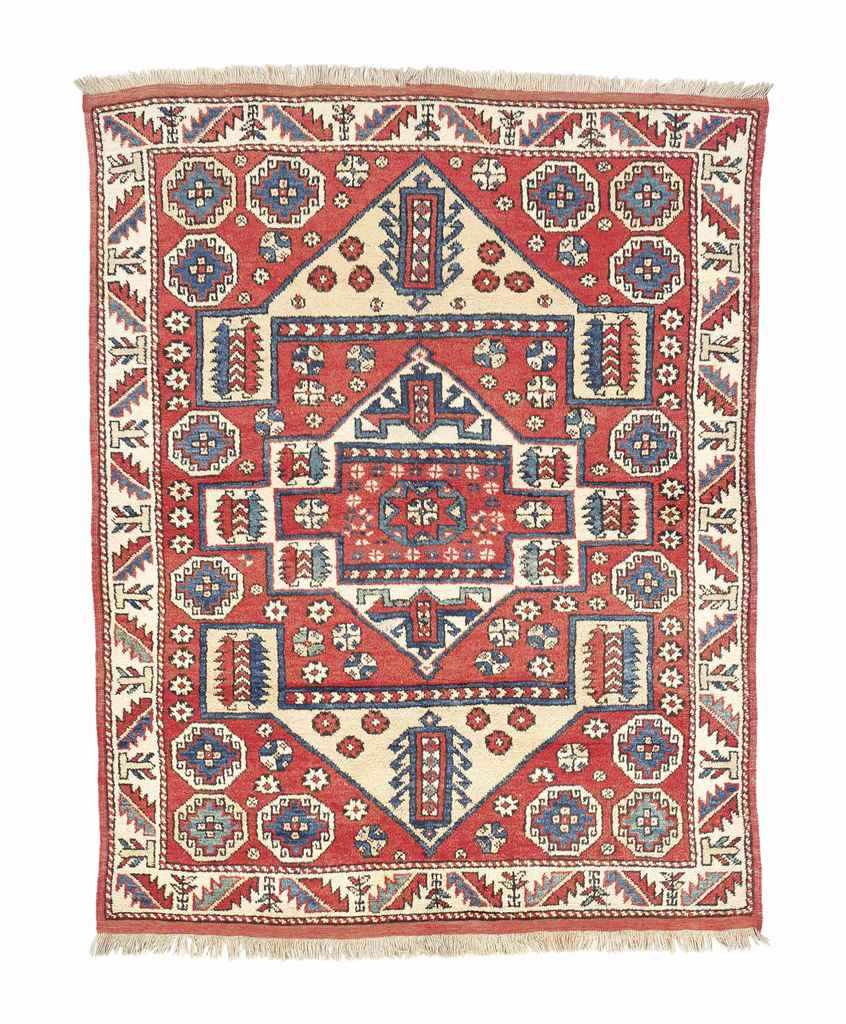 An antique Bergama large rug