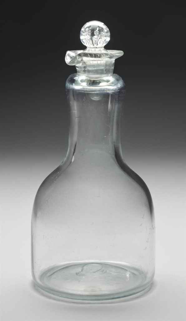 AN ENGLISH MAGNUM-DECANTER AND