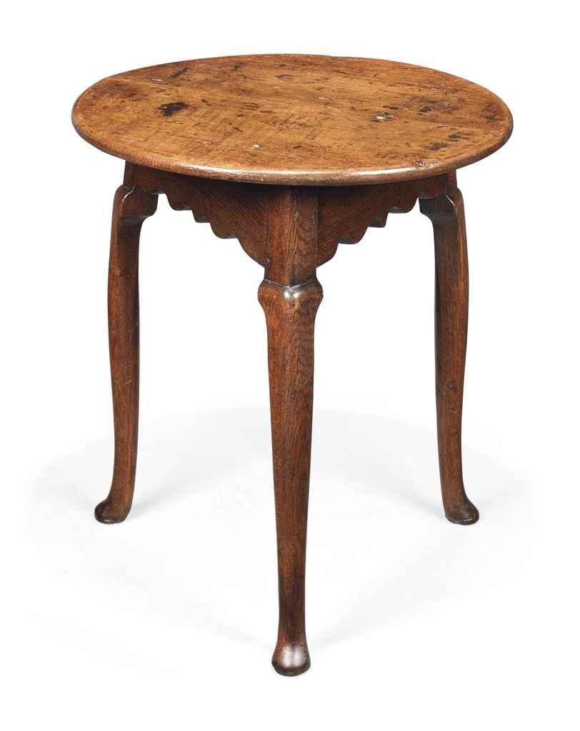 A GEORGE IV OAK CRICKET TABLE