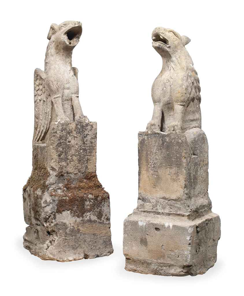 A PAIR OF FRENCH MEDIEVAL STON