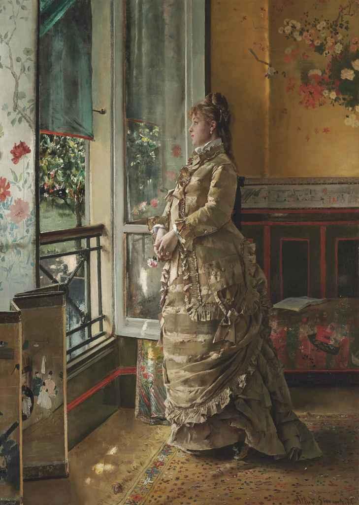 Alfred Stevens Belgian 1823 1906 M 233 Lancolie Christie S