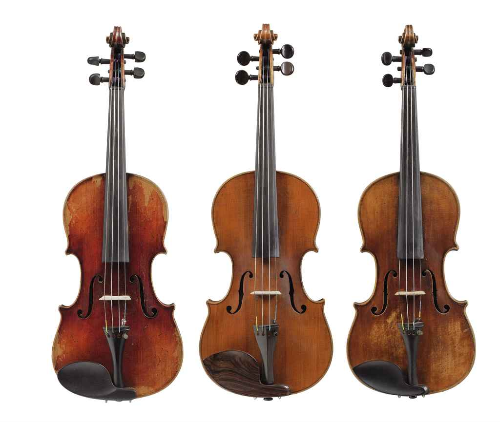 THREE GERMAN VIOLINS | Musical Instruments, Violin Family | Christie's
