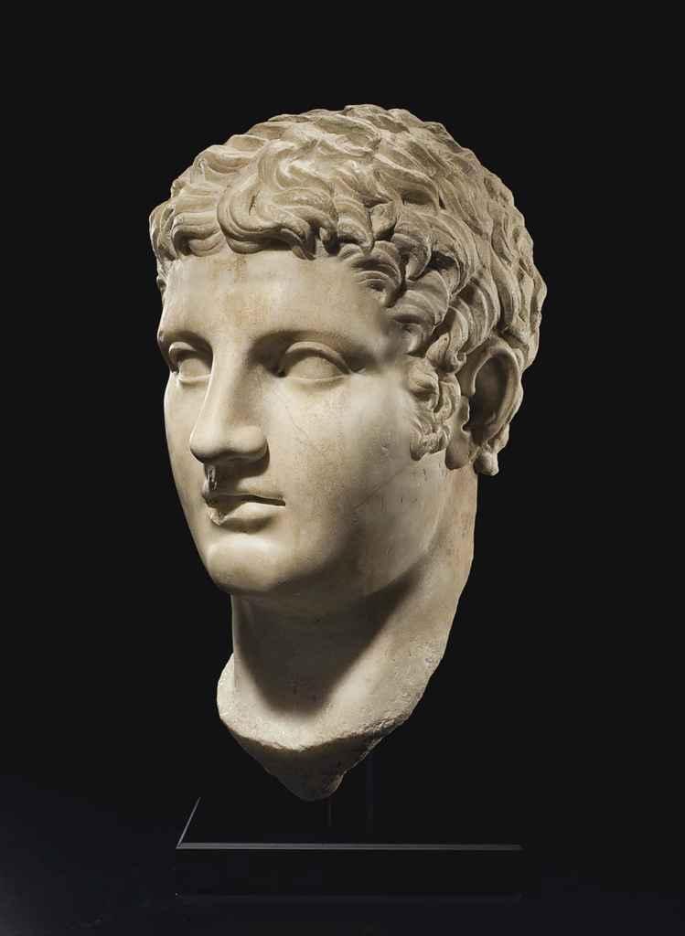 A ROMAN MARBLE PORTRAIT OF A D