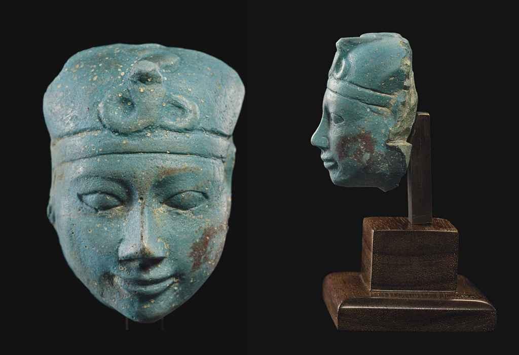 AN EGYPTIAN PORTRAIT HEAD OF A