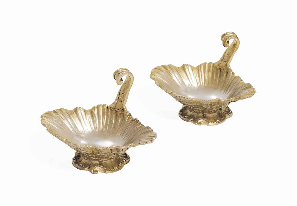 A PAIR OF FRENCH SILVER-GILT S