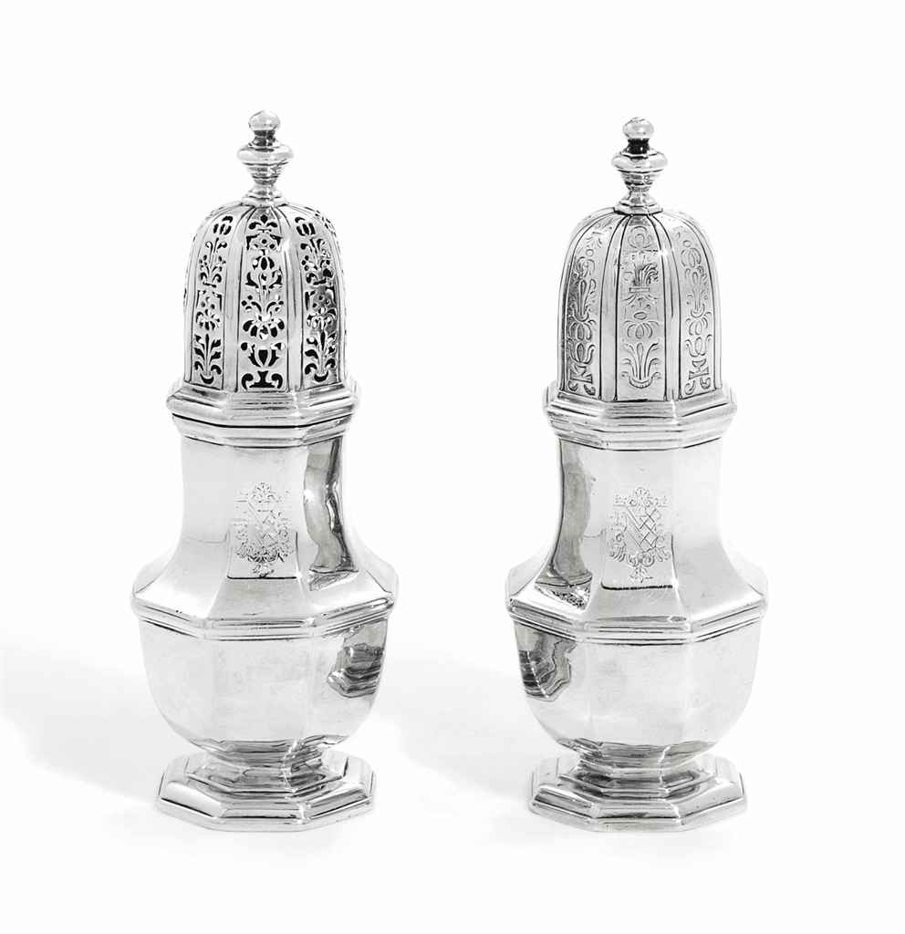 A PAIR OF GEORGE I SILVER CAST